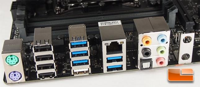 GIGABYTE X99-UD4P I/O Panel