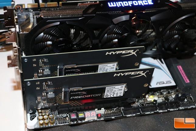 HyperX Predator PCie SSD RAID
