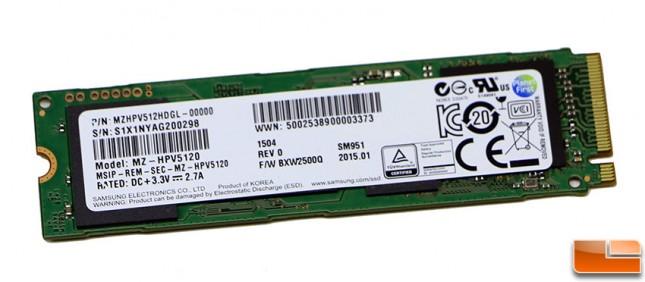 Samsung SM951 M.2 PCIe SSD