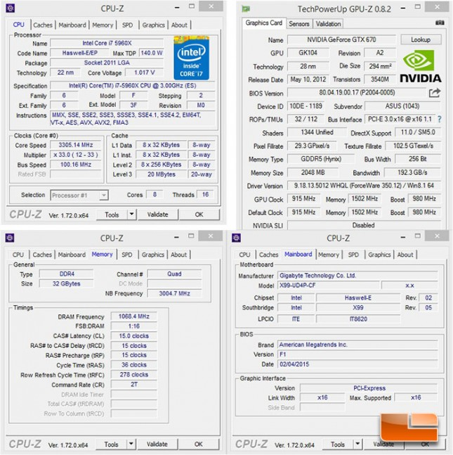 GIGABYTE X99-UD4P System Settings