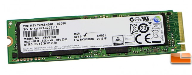 Samsung SM951 NVMe SSD