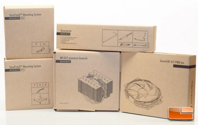 Noctua NH-D15 Box Contents