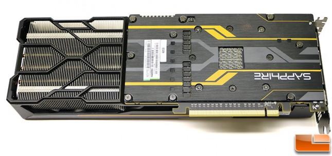 Sapphire Tri-X Radeon R9 Fury Video Card Back