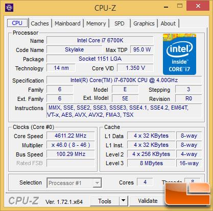 Intel Core i7-6700K Overclock