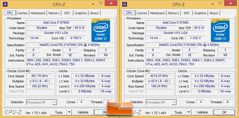 6700k i7 core 5775c intel processor cpu overclocking skylake broadwell cpuz speed benchmark idle clock legitreviews gen single integrated motherboard