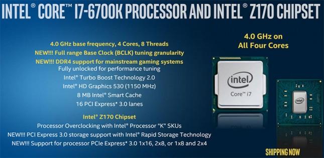 Intel Core i7-6700K Highlights