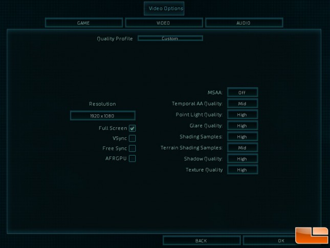 Ashes of the Singularity Game Settings