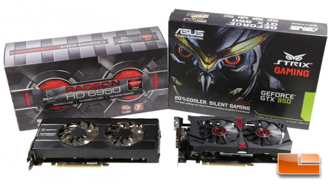 GeForce GTX 950 and Radeon HD 6950