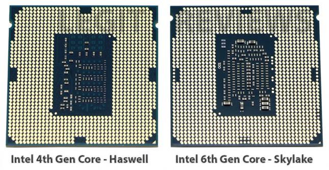 Intel Haswell versus Skylake Pins