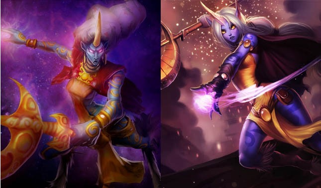 Soraka in 2009 and 2012