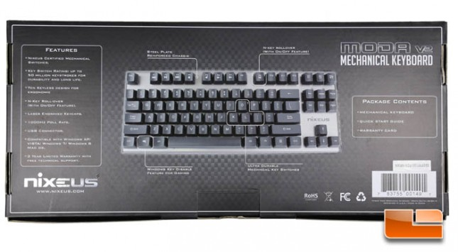 Nixeus MODA v2 Mechanical Keyboard