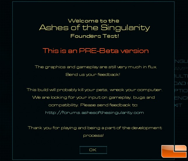 Ashes of Singularity Benchmark