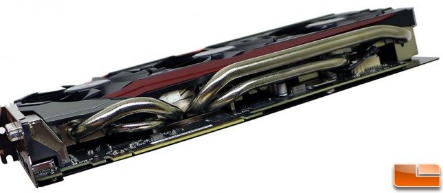 ASUS Radeon R9 390X STRIX Gaming heatpipes