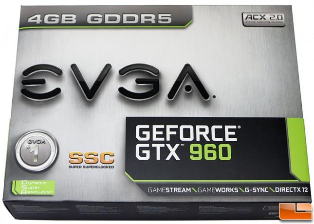 EVGA GeForce GTX 960 SSC 4GB Video Card Box