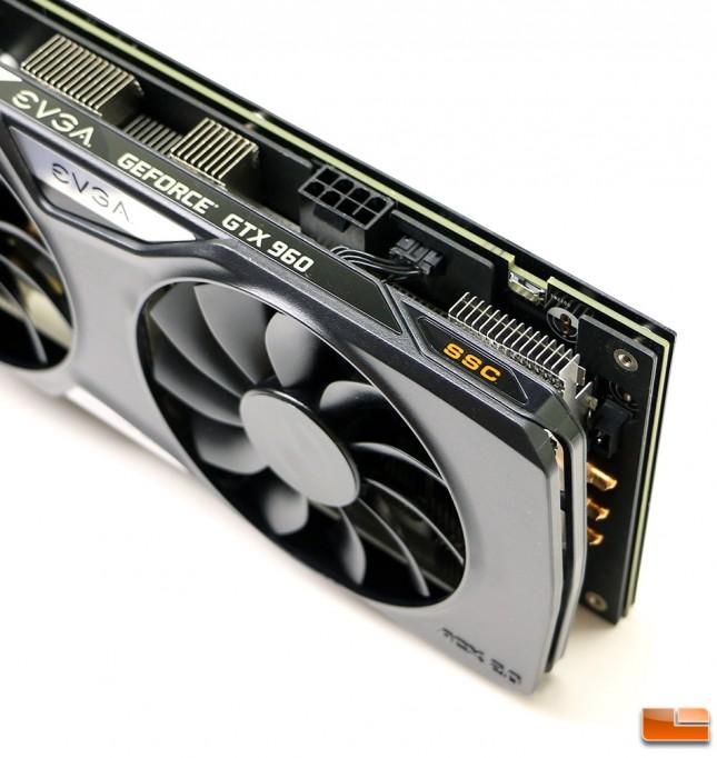EVGA GeForce GTX 960 SSC 4GB Power Connector