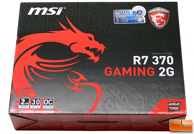 MSI R7 370 Gaming 2G Box
