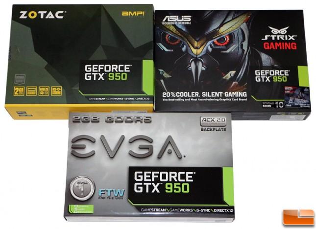 ASUS EVGA Zotac GeForce GTX 950 Roundup