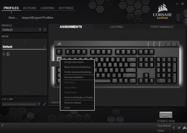 01 - Corsair Strafe RGB - Profiles - Assignments