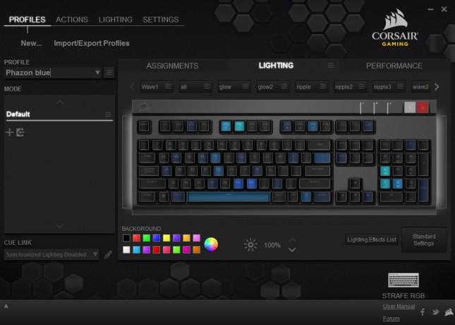 02 - Corsair Strafe RGB - Profiles - Lighting