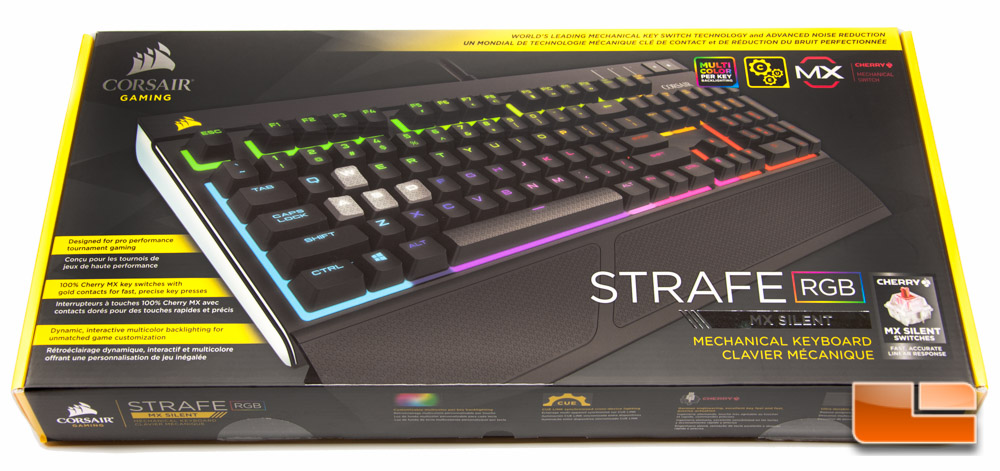 e288f2a3e85 Corsair Strafe RGB - Cherry MX SilentSTRAFE RGB Packaging and a ...