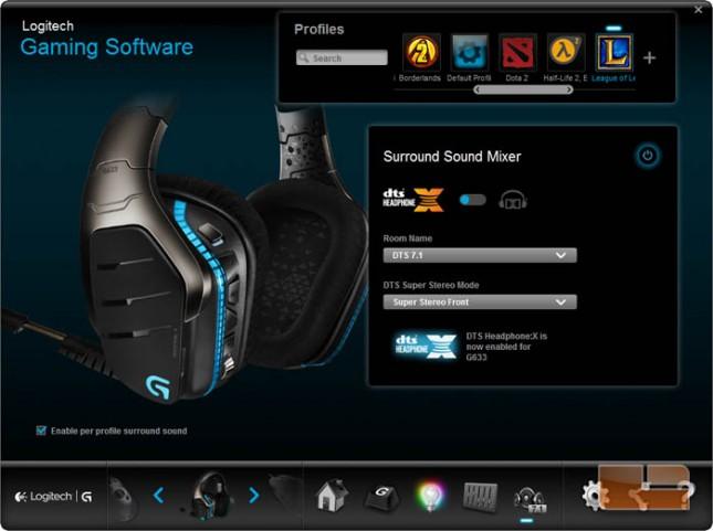 G633 Logitech Gaming Software