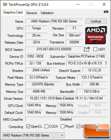 Radeon R9 380X GPU-Z