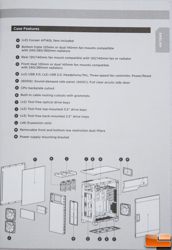 Corsair Carbide 600C Manual