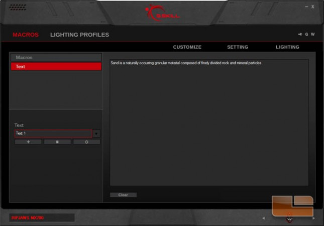 G.SKILL MX780 Software