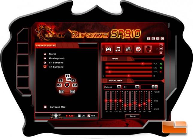 G.SKILL SR910 Software
