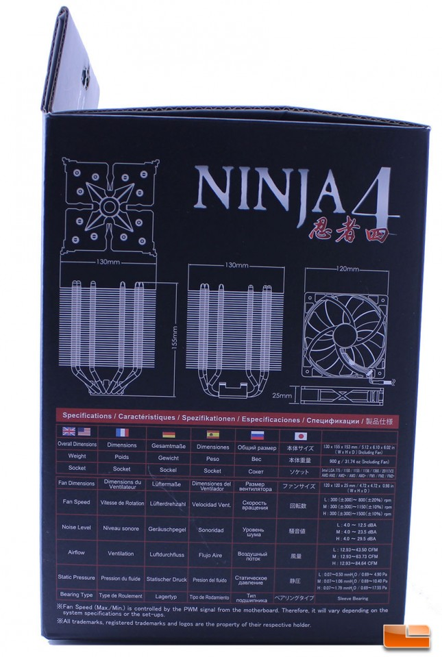 Ninja 4 specifications on the retail packaging