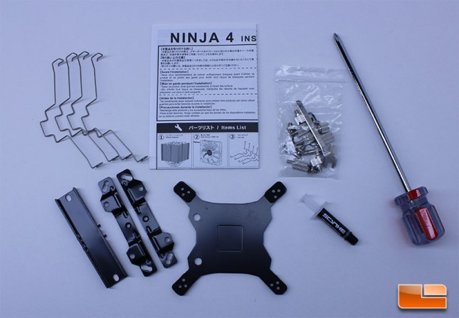 Scythe Ninja 4 accessory kit