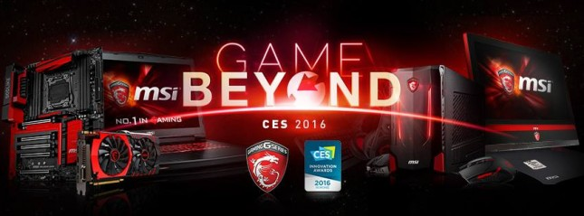 MSI CES 2016 banner