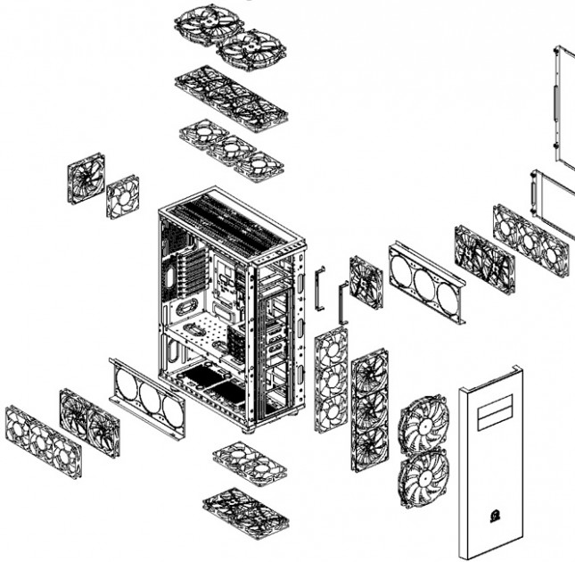 Thermaltake Core X71 - Air Cooling Breakdown