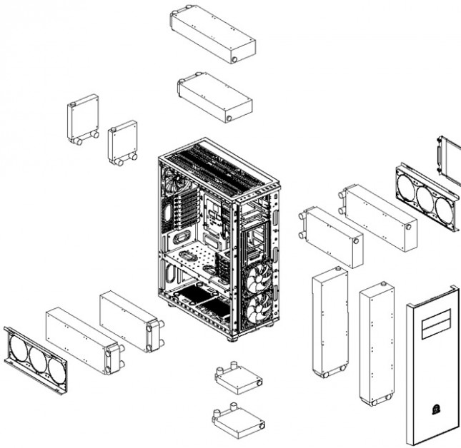 Thermaltake Core X71 - Liquid Cooling Breakdown