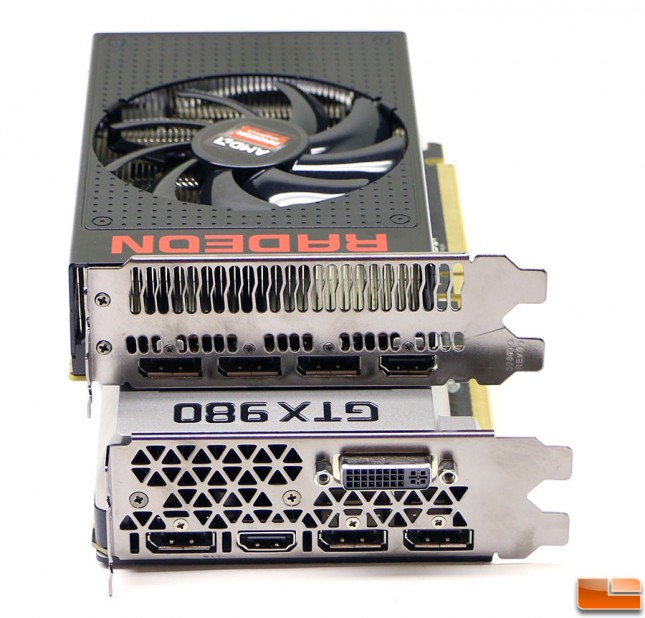 Radeon R9 Nano and Geforce GTX 980 video outputs