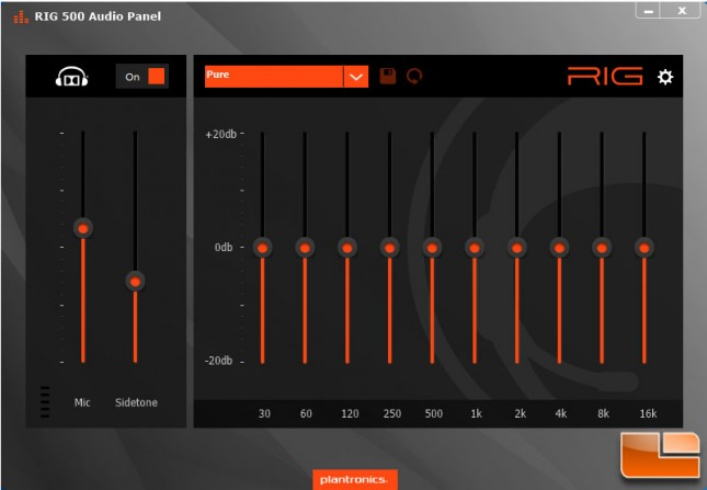 Plantronics RIG 500E Audio Panel