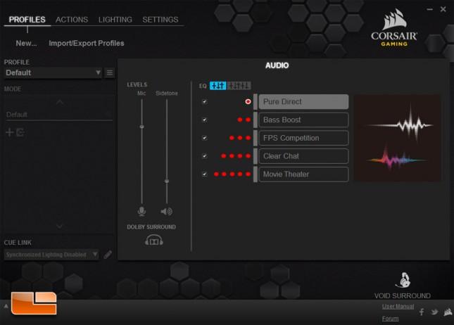 Corsair VOID Surround CUE Software