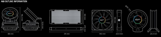 Cryorig A80 Technical Outline