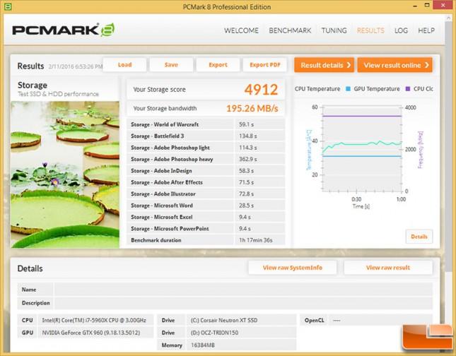 PCMark 8 Storage Benchmark