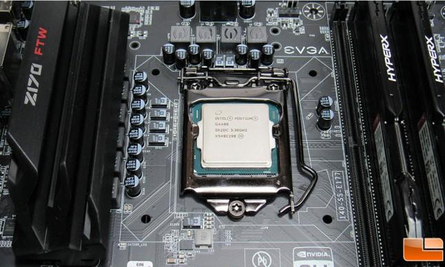 Intel Pentium G4400 Installed
