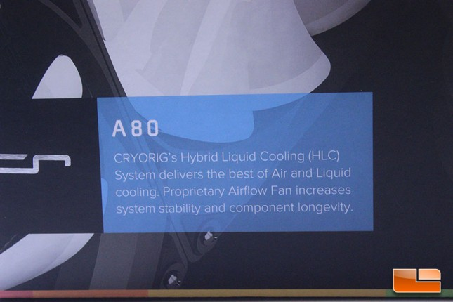 Cryorig A80 Box Front with marketing literature