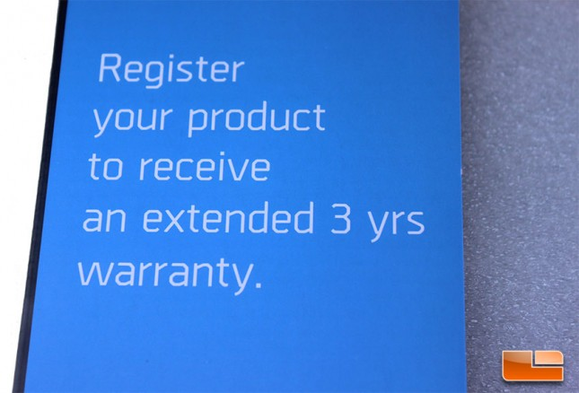 Cryorig has a three year extended warranty