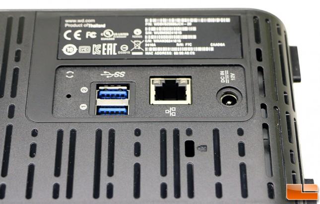 WD My Cloud EX2 Ultra Connectors