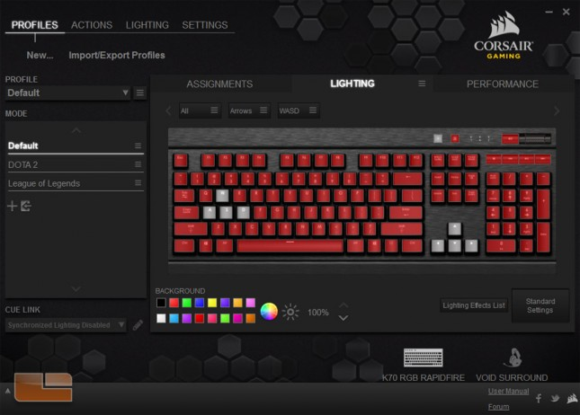 CUE with Corsair K70 RGB RAPIDFIRE