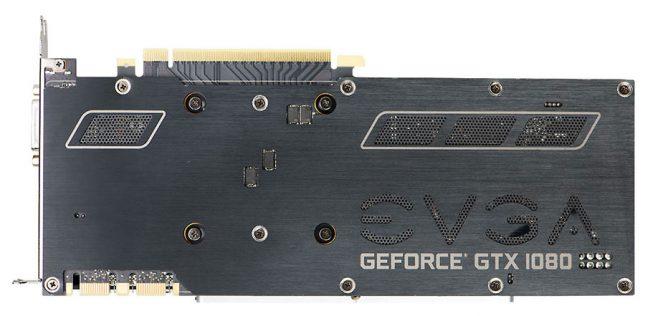 EVGA GeForce GTX 1080 SC Backplate