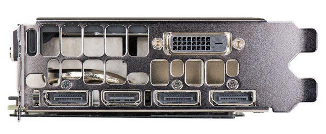 EVGA GeForce GTX 1080 SC Video Outputs