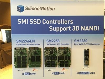 SMI SSD Controllers Support 3D NAND