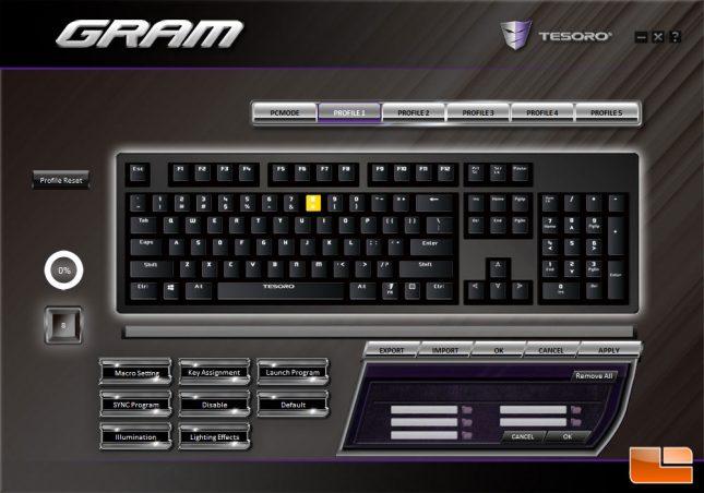 Tesoro GRAM Spectrum Software