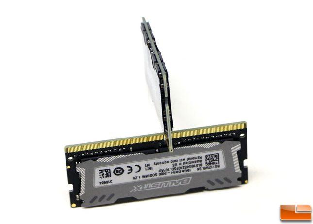 Crucial Ballistix Sport LT 2400MHz DDR4 SODIMM Sticker