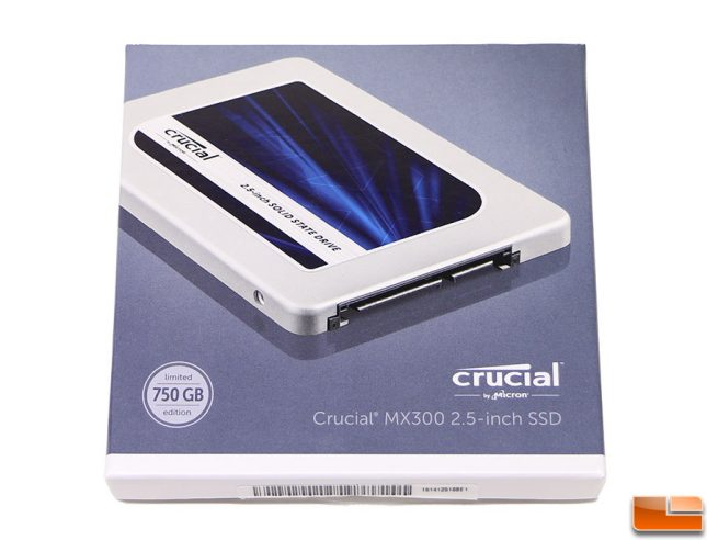 Crucial MX300 SSD Retail Packaging